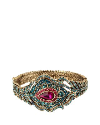 BOHO BETSEY FEATHER BANGLE MULTI