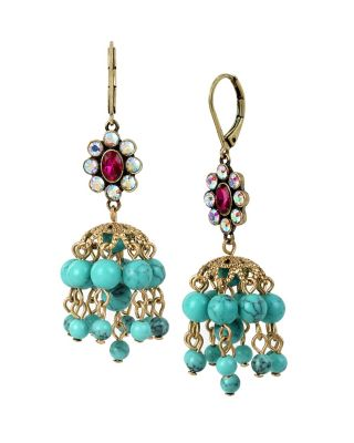 BOHO BETSEY SHAKY DROP EARRINGS MULTI