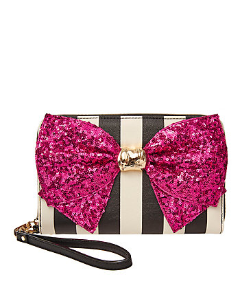 BOW-LESQUE SEQUIN LARGE WALLET