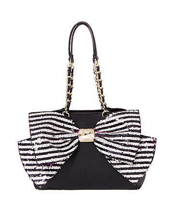 BOW-LESQUE SEQUIN SATCHEL