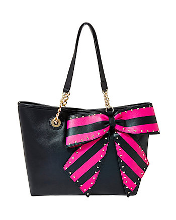 BOW-LETTE SOLID TOTE