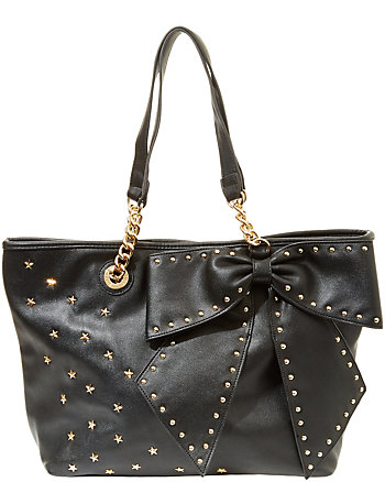 BOW-LETTE STUDDED TOTE