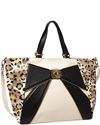 BOW ZIP TOTE
