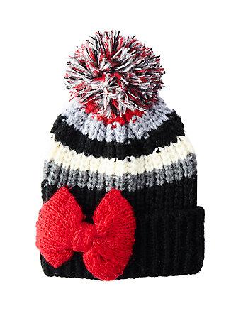BOWLICIOUS STRIPE CUFF HAT