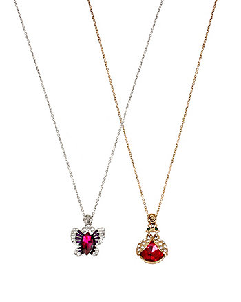 BUG BUTTERFLY DUO NECKLACE SET