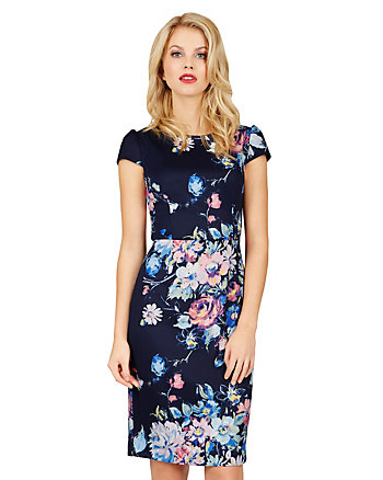 BURSTING BOUQUET MIDI DRESS