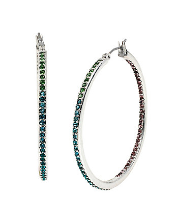 BUTTERFLY EFFECT INSIDEOUT HOOP EARRINGS