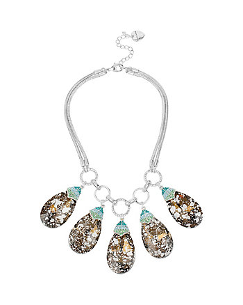 BUTTERFLY EFFECT MULTI STONE DROPS NECKLACE