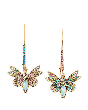 BUZZ OFF BUTTERFLY HOOK EARRINGS