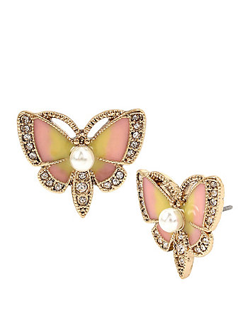 BUZZ OFF BUTTERFLY STUD EARRINGS