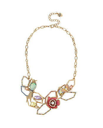 BUZZ OFF FLOWER FRONTAL NECKLACE