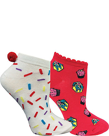 CAKE DREAMS 2 PACK NO SHOW SOCKS