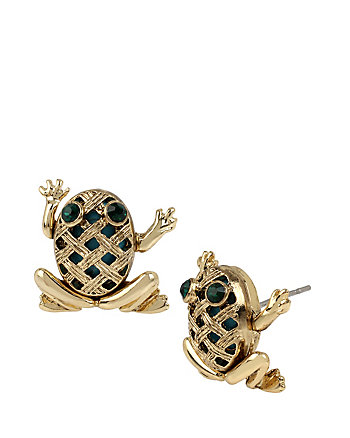 CALYPSO BETSEY FROG STUD EARRINGS