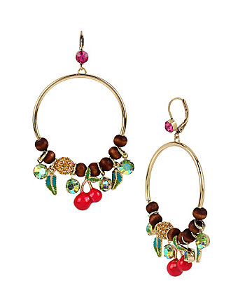 CALYPSO BETSEY FRUIT GYPSY HOOPS