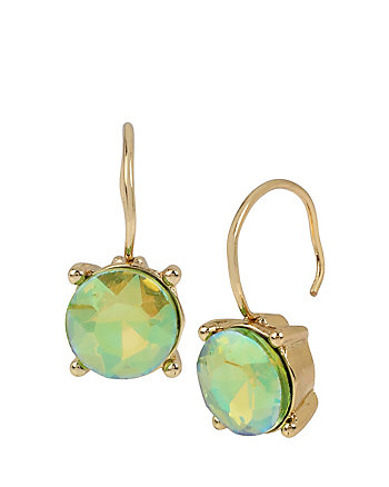 CALYPSO BETSEY GREEN STONE EARRINGS