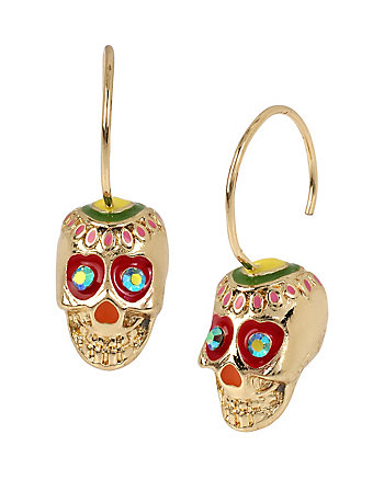 CALYPSO BETSEY SKULL DROP EARRINGS