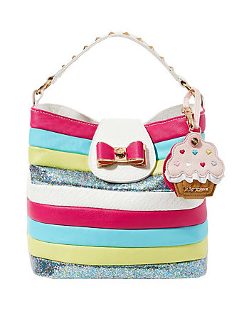 CANDY STRIPER BUCKET BAG