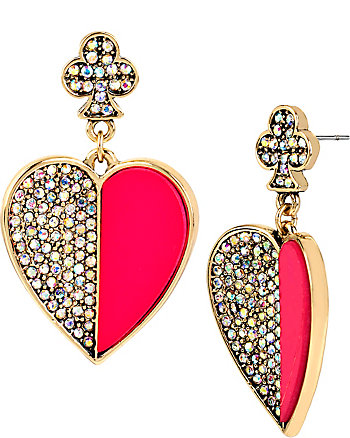 CASINO ROYALE LARGE HEART DROP EARRINGS