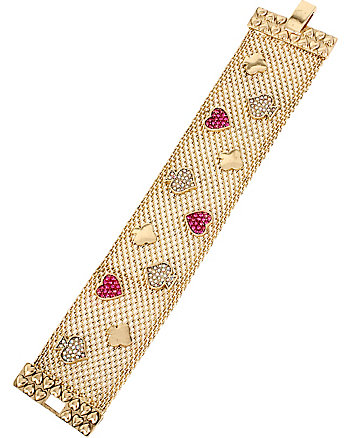 CASINO ROYALE PINK AND GOLD MESH BRACELET