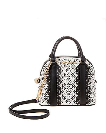 CHIC FRILLS DOME SATCHEL