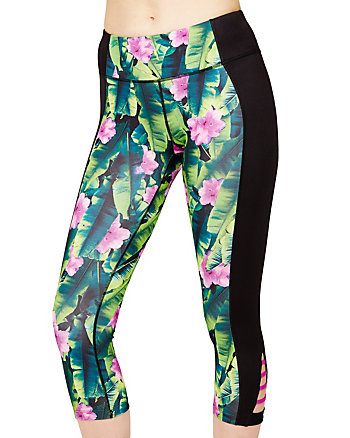 COLORBLOCK PRINTED CROP LEGGING