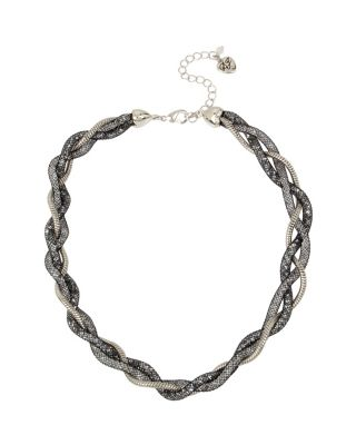 CONFETTI TWISTED NECKLACE BLACK
