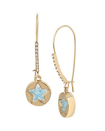 CONFETTI BLUE SHAKEY STAR EARRING