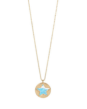 CONFETTI BLUE SHAKEY STAR PENDANT NECKLACE
