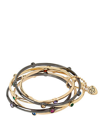 CONFETTI FIVE PIECE MULTI DOT BANGLE SET