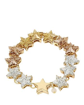 CONFETTI GOLD STAR GLITTER BRACELET
