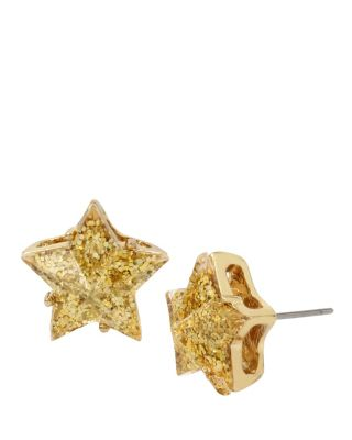 CONFETTI GOLD STAR GLITTER STUDS