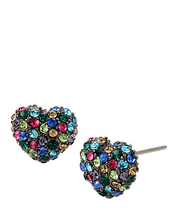 CONFETTI MULTI HEART STUD EARRING
