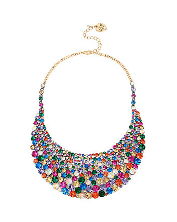 CONFETTI MULTI STONE LARGE BIB NECKLACE