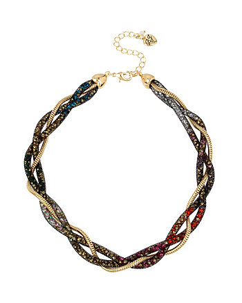 CONFETTI MULTI TWIST COLLAR NECKLACE
