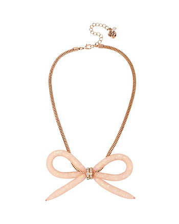 CONFETTI ROSE GOLD BOW NECKLACE