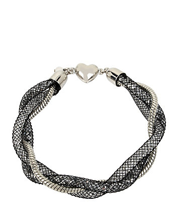 CONFETTI SILVER TWISTED TUBE BRACELET