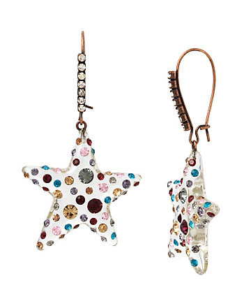 CONFETTI STAR LUCITE EARRING