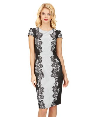 Midi black and white dress