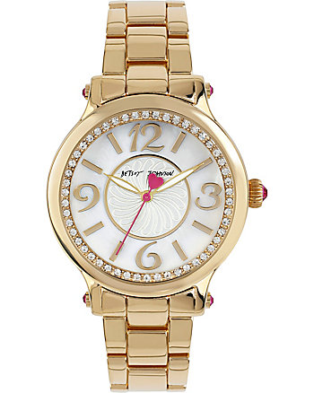 COSMOPOLITAN CRYSTAL ACCENTS GOLD WATCH