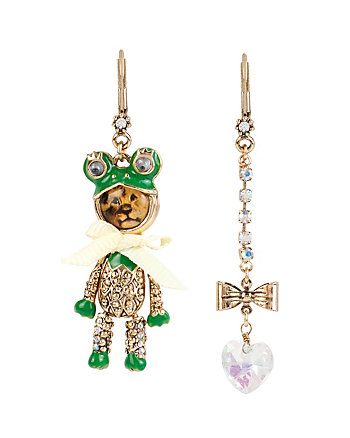 COSTUME CRITTERS FROG LION MISMATCH EARRINGS
