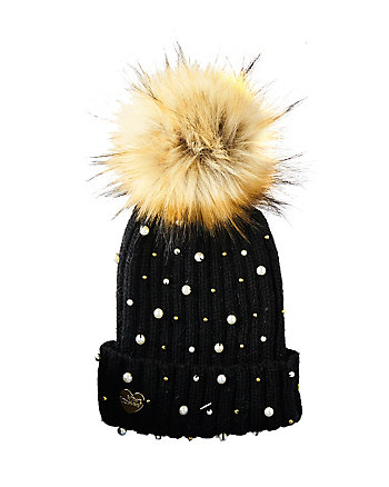 CRAZY FOR PEARLS CUFF HAT