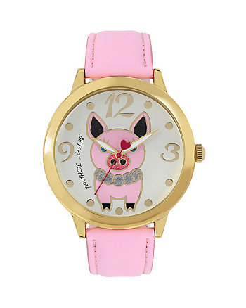 CRITTER MOTIF PIGGY WATCH