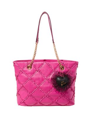 CROSS YOUR HEART TOTE FUCHSIA