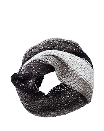 CRYSTAL LIGHT KNIT SNOOD