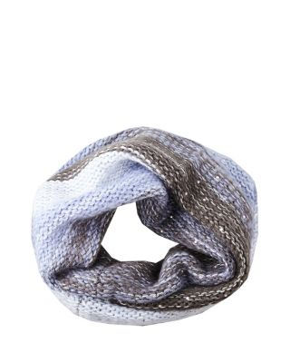 CRYSTAL LIGHT KNIT SNOOD BLUE MULTI
