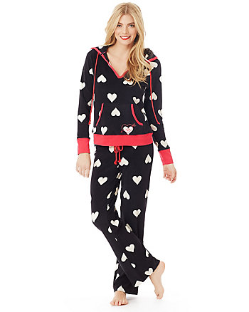 CUDDLE UP MICROFLEECE HOODIE PJ SET
