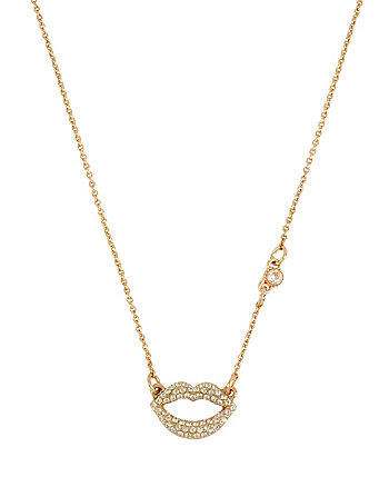 CZ LIPS NECKLACE