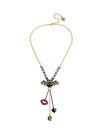 DARK SHADOWS BAT CHARM Y NECKLACE
