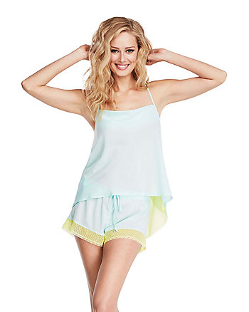 DESTINATION WEDDING CHIFFON SHORT SET