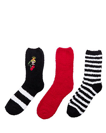 EMOJI BETSEY COZY SOCK THREE PACK